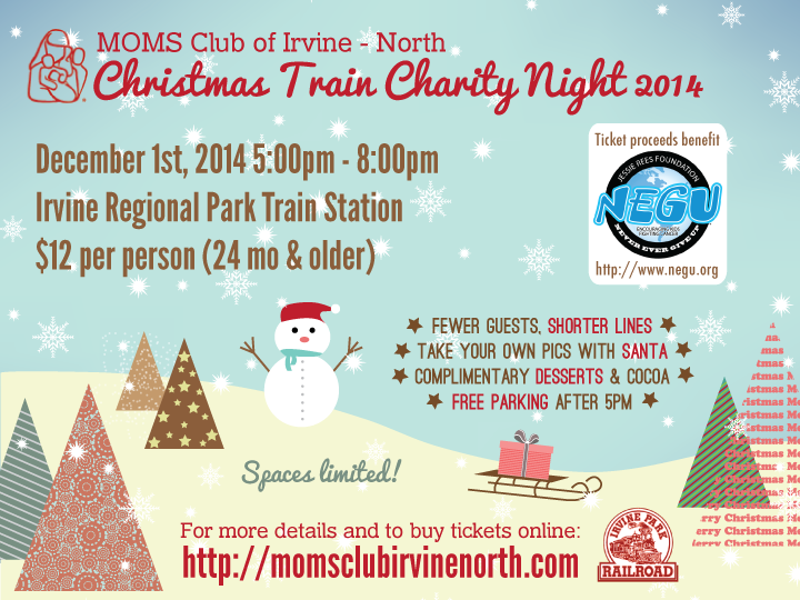 Christmas Train | MOMS Club of Irvine - Northwood, CA